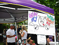 Hogs for the Cause benefit for pediatric cancer, featuring a