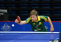 Ashley Parrot (AUS)<br /> 2013 ITTF PTT Oceania Regional<br /> Para Table Tennis Championships<br /> AIS Arena Canberra ACT AUS<br /> Wednesday November 13th 2013<br /> © Sport the library / Jeff Crow