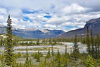 Saskatchewan River Crossing on the Icefields Parkway, Jasper National Park, Canada.