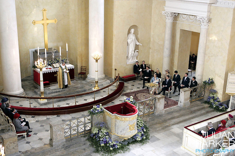 The Christening of Crown Prince Frederik & Crown Princess Mary of Denmark's son Christian Valdemar Henri John at the Palace Chapel, Christiansborg Palace, followed by a reception in the Great Hall..