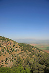 Israel, Upper Galilee, a view of Nahal Kadesh from Koach Fortress