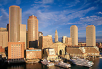 Rowes Wharf skyline morning, Boston, MA