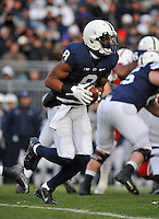 23 November 2013:  Penn State WR Allen Robinson (8) runs an end around during the first quarter. The Penn State Nittany Lions vs. the Nebraska Cornhuskers at Beaver Stadium in State College, PA.