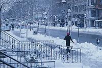 Newbury St.,Winter, snow, Boston, MA