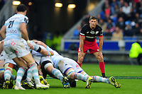 Owen Farrell of Saracens looks on. European Rugby Champions Cup Final, between Saracens and Racing 92 on May 14, 2016 at the Grand Stade de Lyon in Lyon, France. Photo by: Patrick Khachfe / Onside Images