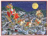 Ingrid, CHRISTMAS SANTA, SNOWMAN, WEIHNACHTSMÄNNER, SCHNEEMÄNNER, PAPÁ NOEL, MUÑECOS DE NIEVE, paintings+++++,USISGS80C,#X# vintage,slade above city,raindeers