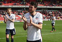Bolton Wanderers' Will Buckley at the end of todays match<br /> <br /> Photographer Rachel Holborn/CameraSport<br /> <br /> The EFL Sky Bet Championship - Barnsley v Bolton Wanderers - Saturday 14th April 2018 - Oakwell - Barnsley<br /> <br /> World Copyright &copy; 2018 CameraSport. All rights reserved. 43 Linden Ave. Countesthorpe. Leicester. England. LE8 5PG - Tel: +44 (0) 116 277 4147 - admin@camerasport.com - www.camerasport.com