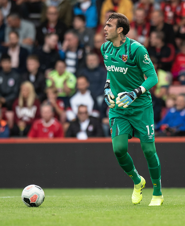 West Ham United's Roberto <br /> <br /> Photographer David Horton/CameraSport<br /> <br /> The Premier League - Bournemouth v West Ham United - Saturday 28th September 2019 - Vitality Stadium - Bournemouth<br /> <br /> World Copyright © 2019 CameraSport. All rights reserved. 43 Linden Ave. Countesthorpe. Leicester. England. LE8 5PG - Tel: +44 (0) 116 277 4147 - admin@camerasport.com - www.camerasport.com
