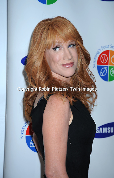 Kathy Griffin posing for photographers at The 9th Annual Samsung Four Seasons of Hope Gala on June 15, 2010 at Cipriani Wall Street in New York City.