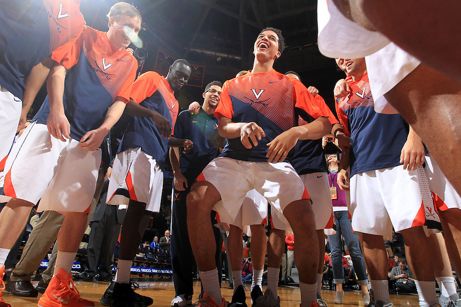 Virginia team during the game Jan. 7, 2015, in Charlottesville, Va. Virginia defeated NC State  61-51.