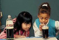 BH01-006x  Bubbles - children making bubbles in soda