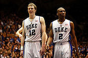 Duke's Kyle Single and Nolan Smith appear cocksure during the second half of Duke's romping of UNC 82-50 at Cameron Indoor Stadium in Durham, N.C., Sat., March 6, 2010.