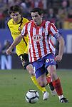 MADRID, Spain (14/02/10).-Liga BBVA de futbol. Partido Atletico de Madrid-FC Barcelona..Antonio Lopez y Lionel Messi.©Raul Perez ..