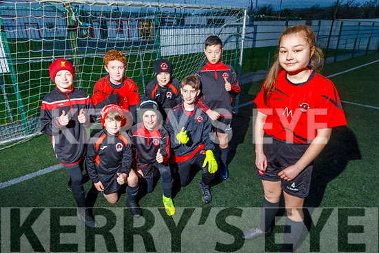 Faye O'Neill of the Park FC who is part of their U12 premier league team as they prepare to play at the Sedriano World Cup in Milan in April pictured with some of the squad.<br /> Kneeling: Nicky Hoare, Adam O/Neill and Joseph Dennehy.<br /> Back l to r: Brian Heaphy, David Mullins, Michael Quirke and Sean O'Neill.