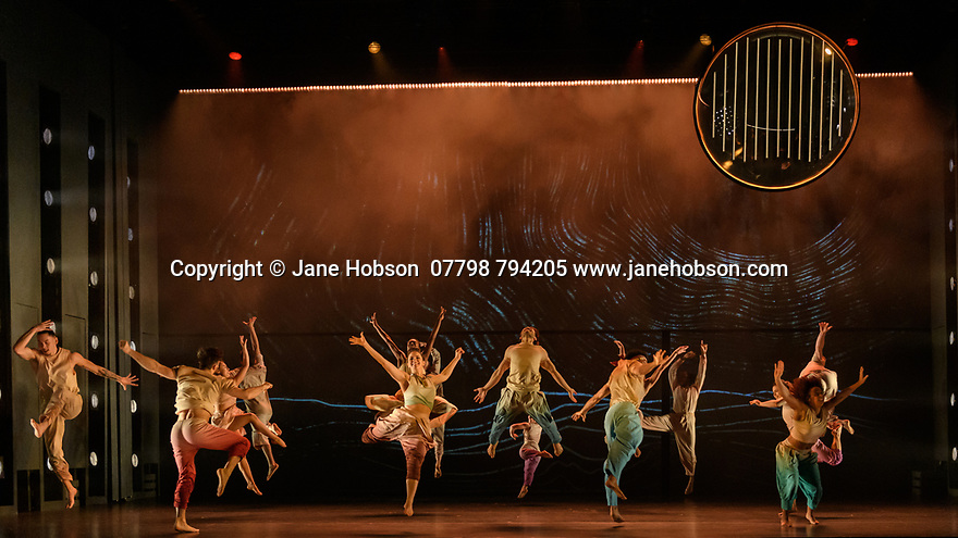 London, UK. 19.02.2020. Sadler's Wells and Universal Music UK present MESSAGE IN A BOTTLE, a new dance theatre production by Sadler's Wells Associate Artist, Kate Prince, set to the music of 17-time Grammy Award-winning artist, Sting. Picture shows: the company. Photograph © Jane Hobson.