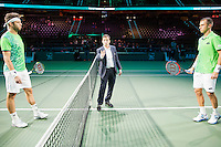 Rotterdam, The Netherlands, Februari 8, 2016,  ABNAMROWTT, Jiri Vesely (CZE) - Lukas Rosol (CZE)<br /> Photo: Tennisimages/Henk Koster