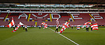 Flag bearers during the Professional Development League play-off final match at Bramall Lane Stadium, Sheffield. Picture date: May 10th 2017. Pic credit should read: Simon Bellis/Sportimage