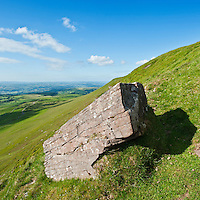 Rock on Hay Bluff, Brecon Beacons national park, Wales