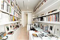 modern white bookcases