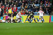 2nd December 2017, Rioch Arena, Coventry, England; Aviva Premiership rugby, Wasps versus Leicester; Tom Youngs (c) of Leicester Tigers goes in for the Leicester Tigers first try 10-0