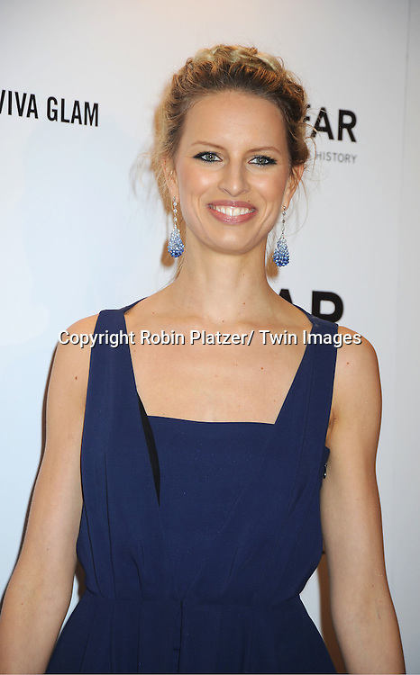 Karolina Kurkova arrives at the amfAR New York Gala to kick off Fashion Week on February 8, 2012 at Cipriani Wall Street in New York City.