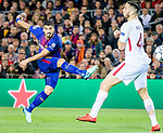 Luis Alberto Suarez Diaz of FC Barcelona (L) in action during the UEFA Champions League 2017-18 quarter-finals (1st leg) match between FC Barcelona and AS Roma at Camp Nou on 05 April 2018 in Barcelona, Spain. Photo by Vicens Gimenez / Power Sport Images