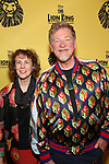 Roger Allers and Irene Mecchi attends the 20th Anniversary Performance of 'The Lion King' on Broadway at The Minskoff Theatre on November e, 2017 in New York City.