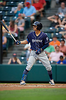 Binghamton Rumble Ponies Andres Gimenez (13) at bat during an Eastern League game against the Richmond Flying Squirrels on May 29, 2019 at The Diamond in Richmond, Virginia.  Binghamton defeated Richmond 9-5 in ten innings.  (Mike Janes/Four Seam Images)