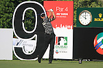 Henrik Stenson tees off on the 9th tee during Day 1 of the Dubai World Championship, Earth Course, Jumeirah Golf Estates, Dubai, 25th November 2010..(Picture Eoin Clarke/www.golffile.ie)