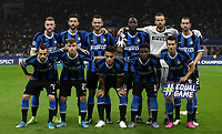 Football Soccer: UEFA Champions League -Group Stage- Group F Internazionale Milano vs Borussia Dortmund, Giuseppe Meazza stadium, October 23, 2019.<br /> Inter's players pose for the pre match photograph prior to  the Uefa Champions League football match between Internazionale Milano and Borussia Dortmund at Giuseppe Meazza (San Siro) stadium, on October 23, 2019.<br /> UPDATE IMAGES PRESS/Isabella Bonotto