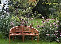 HS73-503z  Garden Bench in Perennial Garden