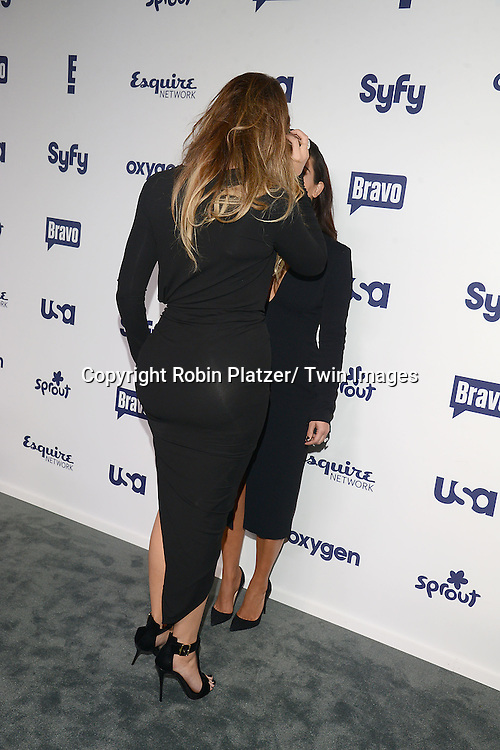 Khloe Kardashian and Kim Kardashian attend the NBCUniversal Cable Entertainment Upfront <br /> on May 15, 2014 at The Javits Center North Hall in New York City, New York, USA.