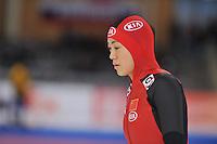 SCHAATSEN: BERLIJN: Sportforum, 07-12-2013, Essent ISU World Cup, 500 Ladies Division A, Beixing Wang (CHN), ©foto Martin de Jong