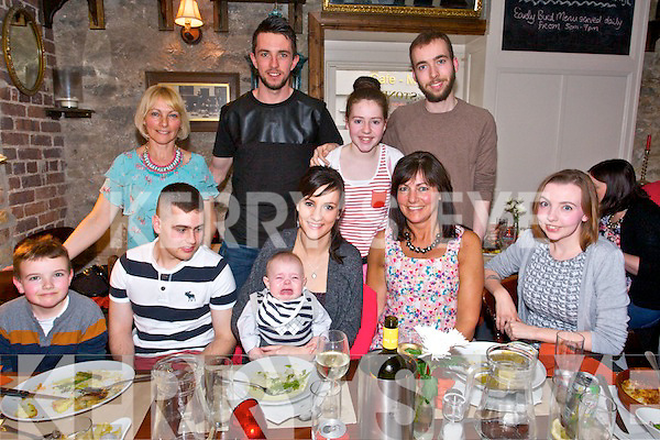 Christina Teague from Ballyduff celebrating her 21st with family and friends.at the Stonehouse on Saturday front l-r Emmet Christie, Seamus Teague, Christina Teague, Cillian Christie Ann Teague, Teresa Christie, back l-r  Roisin Teague, Colin Mahony.Katie Christie, and James Christie