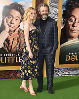 """11 January 2020 - Westwood, California - Anna Lundberg, Michael Sheen. Premiere Of Universal Pictures' """"Dolittle"""" held at the Regency Village Theatre. Photo Credit: Billy Bennight/AdMedia"""
