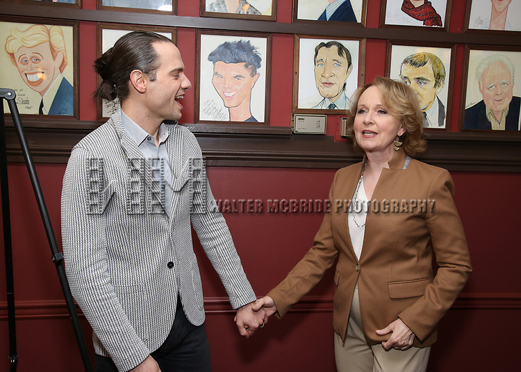 Jordan Roth and Kate Burton attends the Sardi's Caricature Unveiling for Kate Burton joining the Legendary Wall of Fame at Sardi's on June 28, 2017 in New York City.