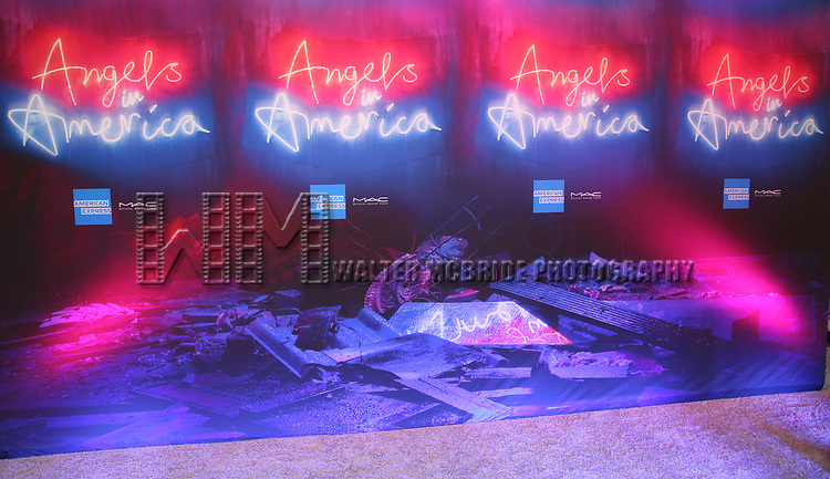 """The Broadway Opening Night Arrivals for """"Angels In America"""" - Part One and Part Two at the Neil Simon Theatre on March 25, 2018 in New York City."""