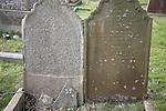 Weathered gravestones