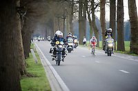 race leaders Alexander Kristoff (NOR/Katusha) &amp; Niki Terpstra (NLD/Etixx-QuickStep) in the final 5km<br /> <br /> 99th Ronde van Vlaanderen 2015