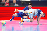 Barcelona Lassa Joao Batista and R. Renov. Zaragoza Carlos Retamar during Futsal Spanish Cup 2018 at Wizink Center in Madrid , Spain. March 16, 2018. (ALTERPHOTOS/Borja B.Hojas)