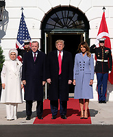 President Donald Trump and first lady Melania Trump welcome President Recep Tayyip Erdogan of Tur