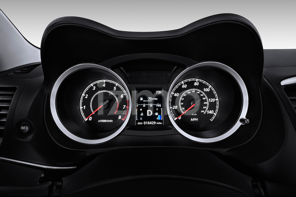 Instrument panel closeup view of a 2012 Mitsubishi Lancer GT Touring