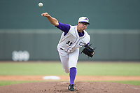 Winston-Salem Dash starting pitcher Dane Dunning (33) delivers a pitch to the plate against the Potomac Nationals at BB&T Ballpark on August 6, 2017 in Winston-Salem, North Carolina.  The Nationals defeated the Dash 4-3 in 10 innings.  (Brian Westerholt/Four Seam Images)