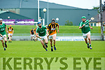 In Action Abbeydorney's James Connor and Ballyduff's Anthony O'Carroll at the Garvey's Supervalu Senior County Hurling Championship - Round 1 Abbeydorney Vs Ballyduff at Austin Stack Park on Saturday