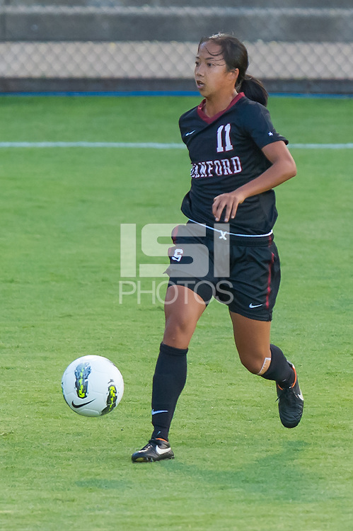 STANFORD, CA - August 17, 2012: Stanford vs Santa Clara in a women's soccer match in Stanford, California. Stanford won 6-1.