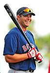14 March 2009: Boston Red Sox' outfielder Jeff Bailey prepares to take batting practice prior to a Spring Training game against the Baltimore Orioles at Fort Lauderdale Stadium in Fort Lauderdale, Florida. The Orioles defeated the Red Sox 9-8 in the Grapefruit League matchup. Mandatory Photo Credit: Ed Wolfstein Photo