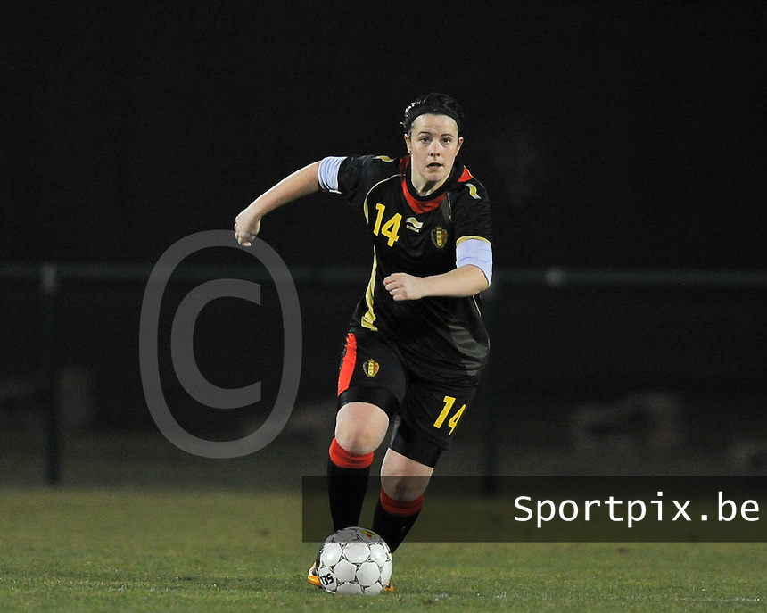 Belgium Dames U19 - selectie brabant jongens U15 :  Maria Laura Aga.foto DAVID CATRY / Vrouwenteam.be
