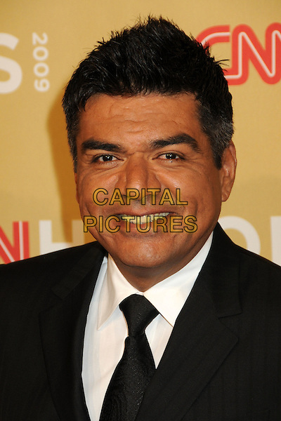 GEORGE LOPEZ .CNN Heroes: An All-Star Tribute 2009 held at the Kodak Theatre, Hollywood, California, USA,.21st November 2009 .portrait headshot black tie smiling .CAP/ADM/BP.©Byron Purvis/AdMedia/Capital Pictures.