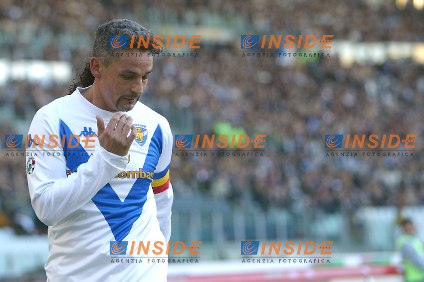 Roma 11/1/2004 <br /> Lazio Brescia 0-1 <br /> Roberto Baggio Brescia<br /> Photo Andrea Staccioli Insidefoto
