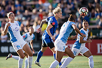 Seattle, WA - Sunday, May 21, 2017: Jess Fishlock during a regular season National Women's Soccer League (NWSL) match between the Seattle Reign FC and the Orlando Pride at Memorial Stadium.